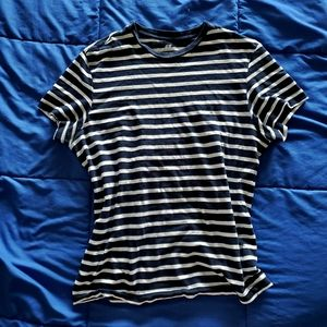 H&M Navy and White Striped T-Shirt